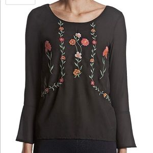 NWT ruff hewn bar back embroidered blouse sz.XS